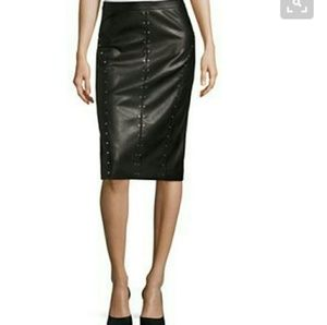 Dresses & Skirts - Pencil skirt studded faux leather NWOT